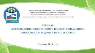 Вебинар «Организация инклюзивного профессионального образования: задачи и перспективы»