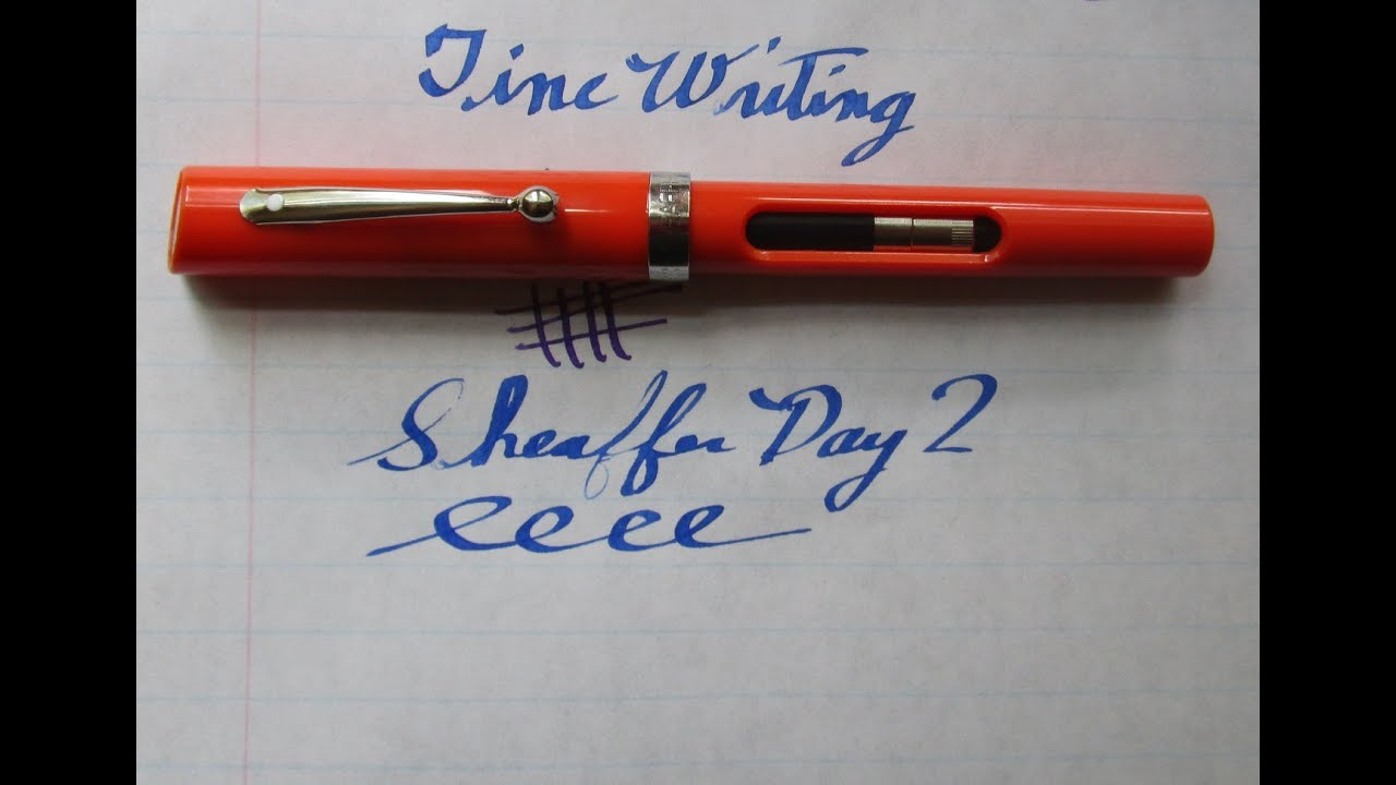Fountain Pen Review Sheaffer Viewpoint Calligraphy
