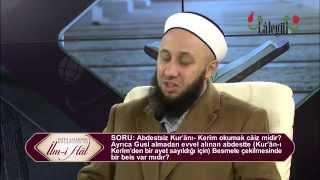 Abdestsiz Kur'ânı  Kerîm okumak câiz midir? Fatih Kalender Hoca