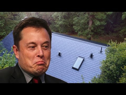 Elon Selfishly Takes First Solar Roof For Himself!