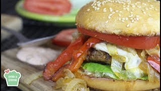Beef Burger with Caramelized Onions - Episode 178 - Amina is Cooking