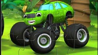 Игра Вспыш и Чудо машинки Монстрак Огурчик онлайн пазлы машинки Развивающие мультики видео для детей