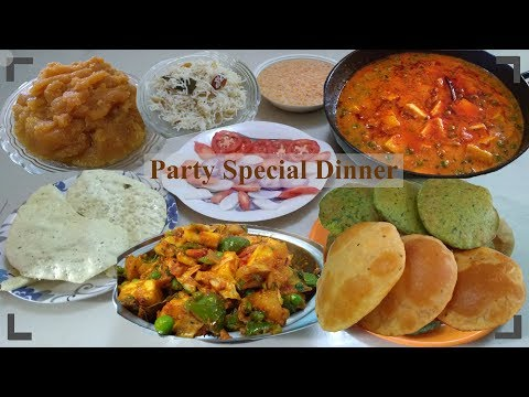 Party Special Complete Dinner - For Birthday, New Year, Anniversary, Merry Christmas, Get Together