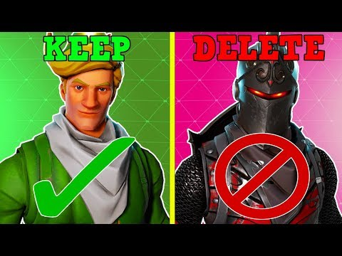 KEEP 20 Skins & DELETE The Rest! (Fortnite Battle Royale!)