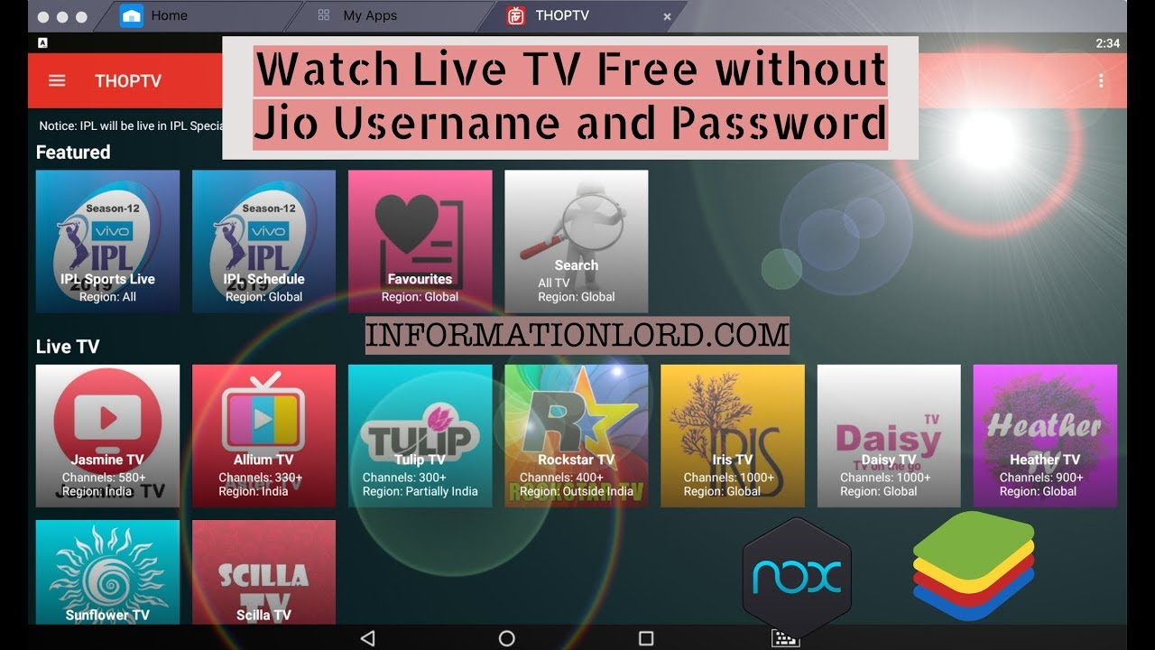 Jio Play Live TV free without JioTV app username and