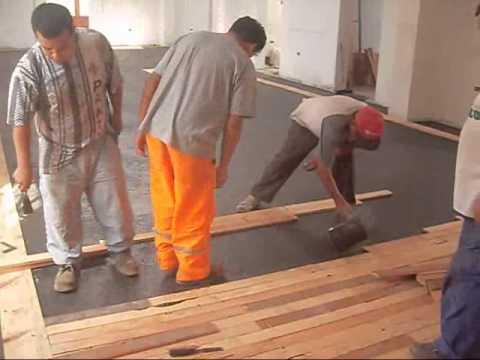 Pegado del piso de madera casa castilla youtube - Como guardar bicis en un piso ...