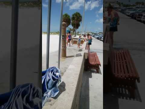 Clearwater beach shower 20170806