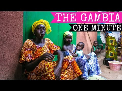 Off the beaten track in Africa | The Gambia in one minute | 2015 FULL HD