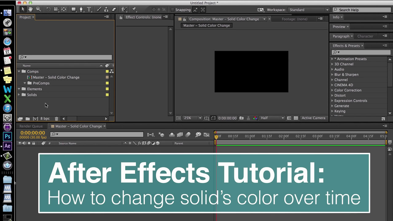 Evf After Effects Tutorial: Change Solid's Color Over Time