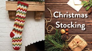 How to Crochet a Christmas Stocking: Zigzag Stocking