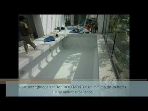 Microcemento s a c aplicacion en piscinas youtube - Microcemento para piscinas ...