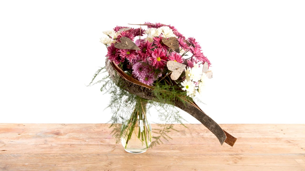 Valentine Heart | Flower Factor How To | Bouquet - YouTube