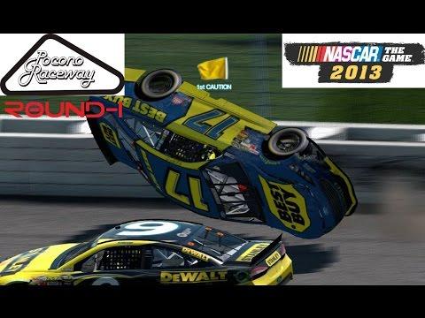 Nascar the game 2013 - Pocono Round-1 (Авария уже в начале видео!)