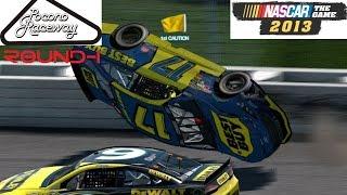 Nascar the game 2013 - Pocono Round-1 (Авария уже в начале видео!)(Nascar the game 2013 Первый раунд на трассе