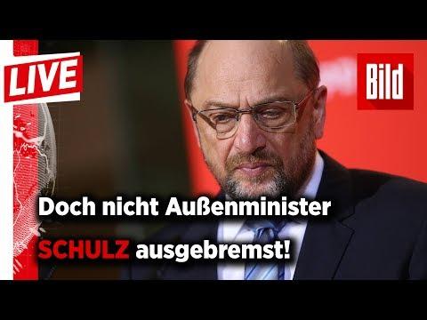 Ausgebremst! Martin Schulz verzichtet auf Ministerposten
