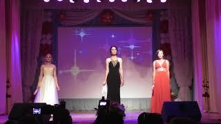 'Прыгажуня Аграпрама-2018'. Дефиле в вечерних платьях. Столбцы