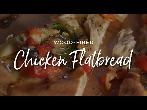 Wood-Fired Chicken Flatbread On The Clementi Pulcinella Wood-Fired Oven