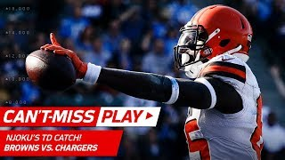 Josh Gordon's Leaping Grab Sets Up David Njoku's TD Catch! | Can't-Miss Play | NFL Wk 13 Highlights