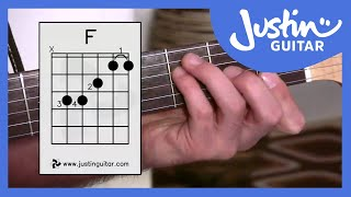 3 ways of playing f chord guitar lesson guitar for beginners stage 6 bc 161