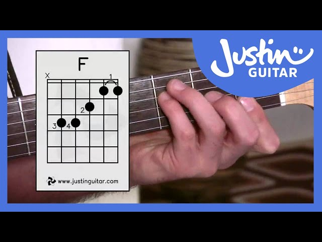 The Dreaded F Chord Justinguitar