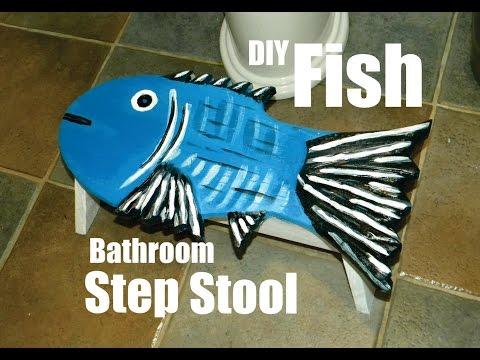 How To Make A Nautical Fish Bathroom Step Stool DIY