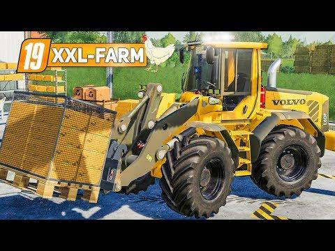 LS19 XXL Farm #52: Der XXL HÜHNERSTALL ist da mit Eierpaletten   LANDWIRTSCHAFTS SIMULATOR 19