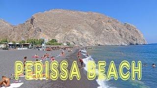 Perissa Beach - Santorini 4K