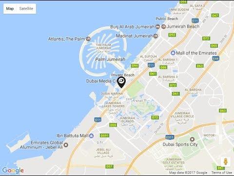 DAMAC Residenze Location Map interiors by Fendi Casa Dubai