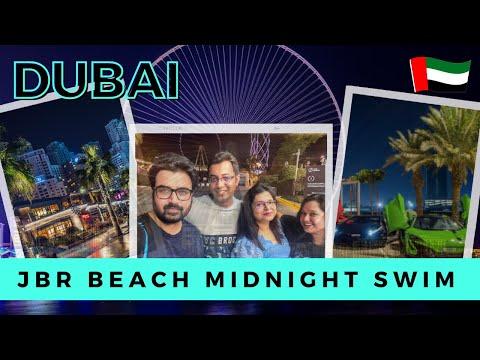 Night Beach Walk (2021) 4K – Jumeirah Beach in Dubai | JBR Beach Dubai | Dubai Tourist Attraction