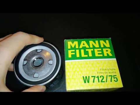 Фильтр масляный MANN Ман W712/75 Ланос Авео Опель Нексия (Как отличить подделку от оригинала)