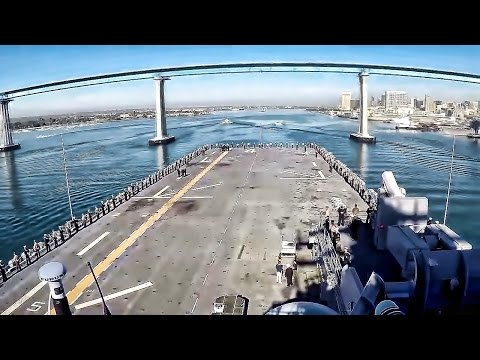 USS Boxer Departs Naval Base San Diego For Deployment