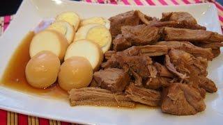 Корейская кухня: Джанг Джо Рим (장조림) или маринованная говядина и яйца