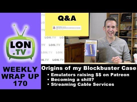 Weekly Wrapup 170 - My Blockbuster Box, Emulators Raising $$ on Patreon, Streaming Services