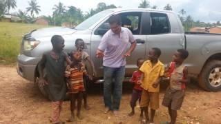 Fiji Dalip Chand teaching African kids how to dance Indian song