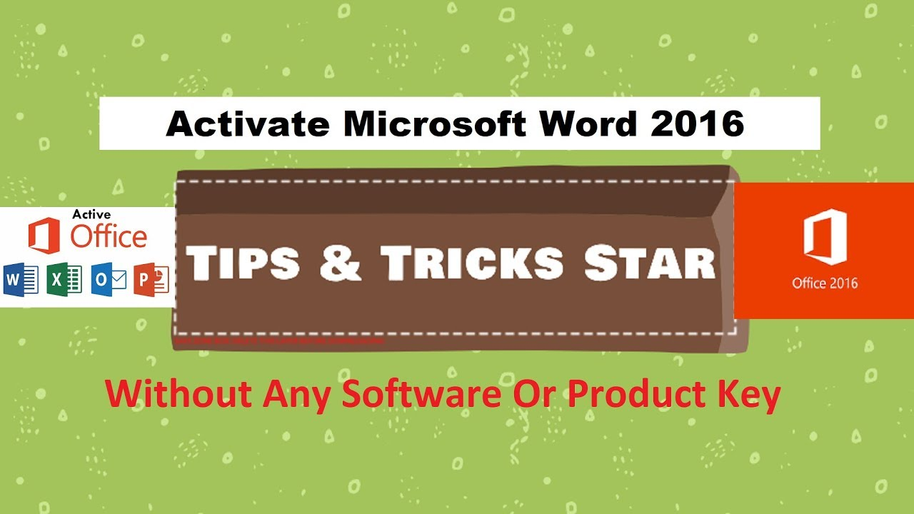 activate word without product key