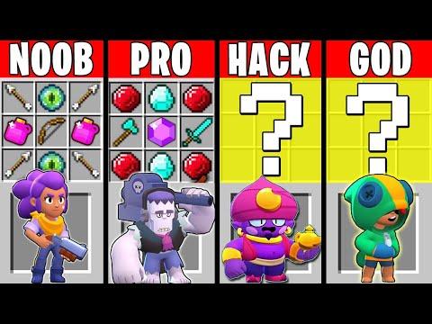 Minecraft NOOB vs PRO vs HACKER vs GOD : SUPER BRAWL STARS Challenge in Minecraft!