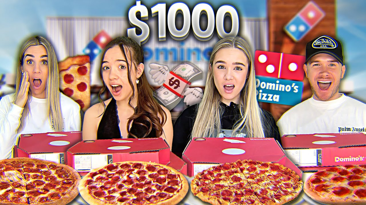 LAST TO STOP EATING PIZZA WINS $1000!! *Family Challenge*