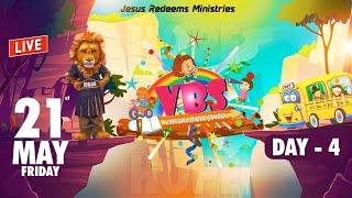 🔴🅻🅸🆅🅴 || Virtual Bible School (VBS) - Day 4 | Jesus Redeems | May 21, 2021