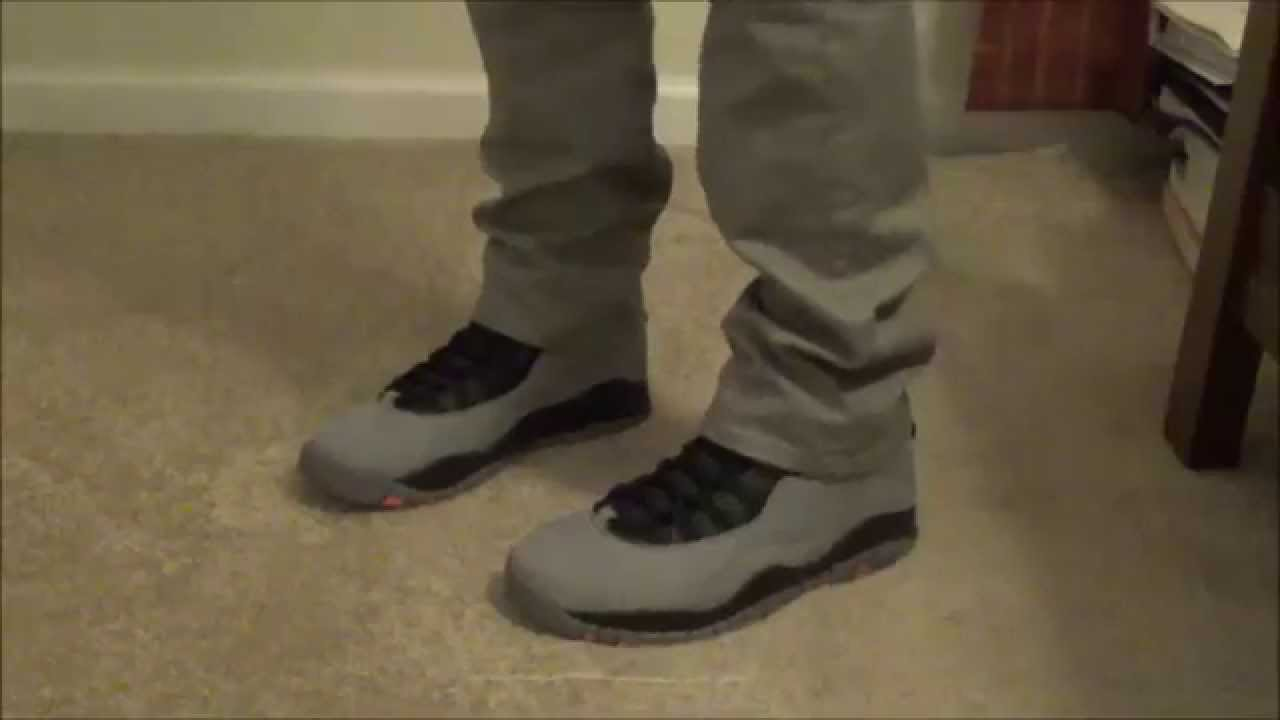 the latest 3721b 2eff6 Jordan 10 Cool Grey Infrared On Feet Review - YouTube