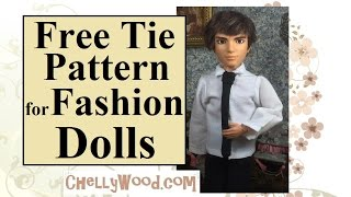 Fashion Doll Free Tie Pattern and Tutorial
