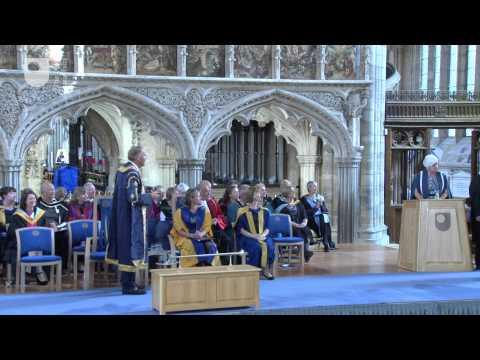 Exeter degree ceremony, Friday 4 September 15:00