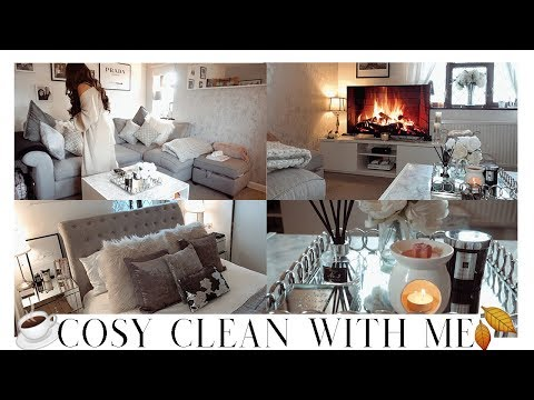 COSY SPEED CLEAN WITH ME | Candles, Wax melts & Fall Vibes