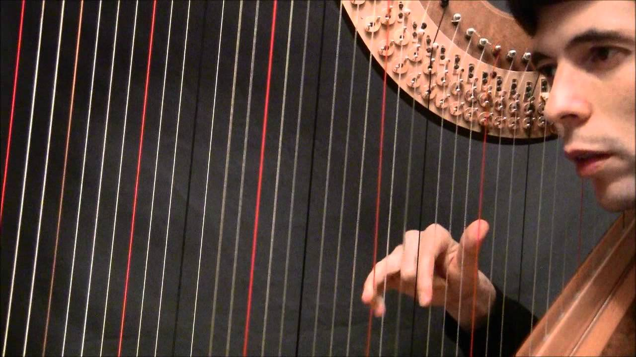 Playing 15 fingered chords on the harp, and finger independence   Harp  Tuesday, episode 15