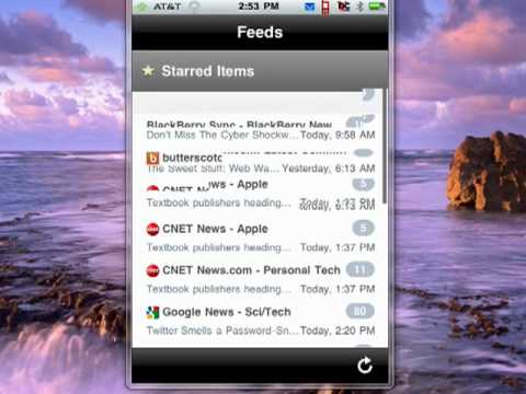 NetNewsWire RSS feds on your iPhone
