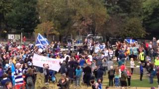 Freedom Rally (Holyrood 27/9/14): Ted Christopher singing