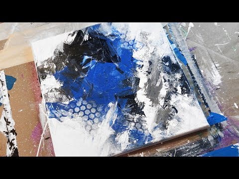 Abstract Acrylic Painting Demo / Daily Grunge Art Tutorial / Relaxing Art Therapy / 035 thumbnail