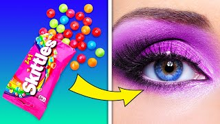 MAKEUP OUT OF FOOD || Natural Beauty Hacks That You Will Love