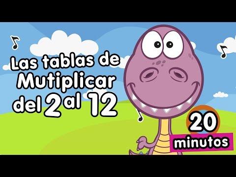 Tablas de multiplicar cantadas Canciones Infantiles