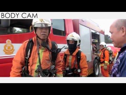 Fire Drill 2016 at SK Serumbu, Bau by JBPM