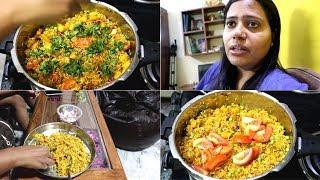 INDIAN LUNCH ROUTINE || kAJU-MATAR PULAV || 15 minutes pulav recipe| | Indian vlogger || vlog 2019.
